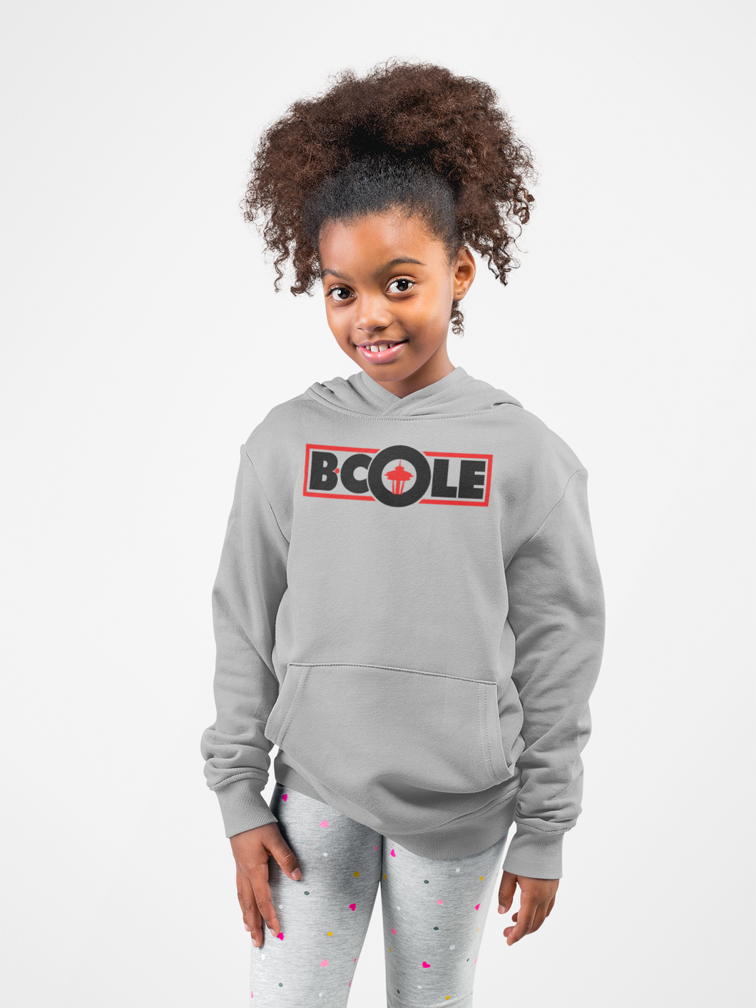 "B. Cole ""Youth"" Hoodie - Sport Grey/Black/Red"
