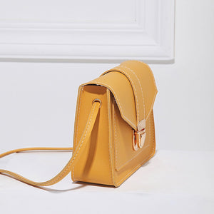 Fashion Small Crossbody Bags for Women 2019 Mini PU Leather Shoulder Messenger Bag for Girl Yellow Bolsas Ladies Phone Purse - PrintiLya