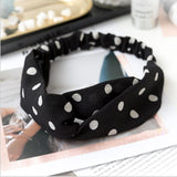 Korean Style Summer Lovely Hairband Women Hair Accessories Turban Twist Cross Headwrap Girl Floral Elastic Knotted Headwear - PrintiLya
