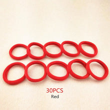 Load image into Gallery viewer, 30Pcs Girls Candy Color Ring Elasticity Bands For Hair