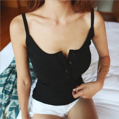 Women Fashion Sexy Summer Vest Knitting Top Ladies Sleeveless Blouse Casual Tank Tops Clothing - PrintiLya