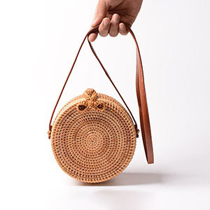Vintage Handmade Women Rattan Bag Straw Woven Shoulder Bags Bow Holiday Beach Bohemia Crossbody Bag Messengers Handbag - PrintiLya