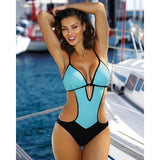 2019 Print One Piece Swimsuit Women Swimwear Deep V Monokini Bodysuit Backless Bathing Suit Beach Wear High Cut Swim Suit - PrintiLya