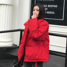 Load image into Gallery viewer, Autumn Winter Jacket Women Coat Fashion Female Stand Winter Jacket Women Parka Warm Casual Plus Size Overcoat Jacket Parkas - PrintiLya