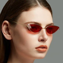 Load image into Gallery viewer, KUJUNY Glasses Women Cat Eye Sunglasses Cute Sexy Brand Designer Summer Retro Small Frame Black Red Cateye Sun Glasses - PrintiLya