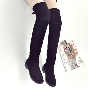 women's boots autumn and winter new over the knee boots sleek