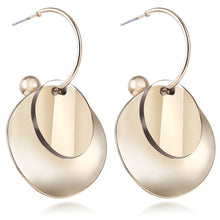 Load image into Gallery viewer, Earrings Metal Geometric For Women Gold Color Hollow Round Hanging Fashion Jewelry 2020