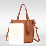 MAIOUMY Woman bag 2019 New Fashion Four-Piece Shoulder Messenger Wallet Handbag elegant anti-theft  Composite travel bag - PrintiLya