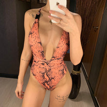 Load image into Gallery viewer, DIY Long Strap Wrap Around 2019 Women Swimwear One Piece Swimsuit Female Bather Leopard Printed Bathing Suit Swim Lady - PrintiLya