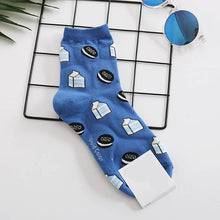 Load image into Gallery viewer, Snack pattern Harajuku happy socks  funny combed cotton dress casual wedding socks colorful novelty skateboard socks women - PrintiLya