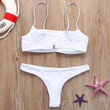 Bikini 2019 Woman Thong Bikinis Set Sexy Swimwear Micro Swim Suits Girls Biquinis Female Solid Swimsuit Bathing Suits - PrintiLya