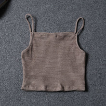 Load image into Gallery viewer, New Hot Sale Fashion Women Knitwear Sleeveless Tops Shirt Blouse Casual Crop Tops T-Shirts - PrintiLya