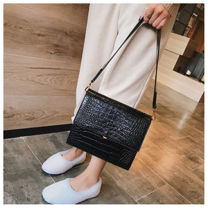 New Quality PU Leather Women Tote bag Alligator Shoulder Crossbody Bags