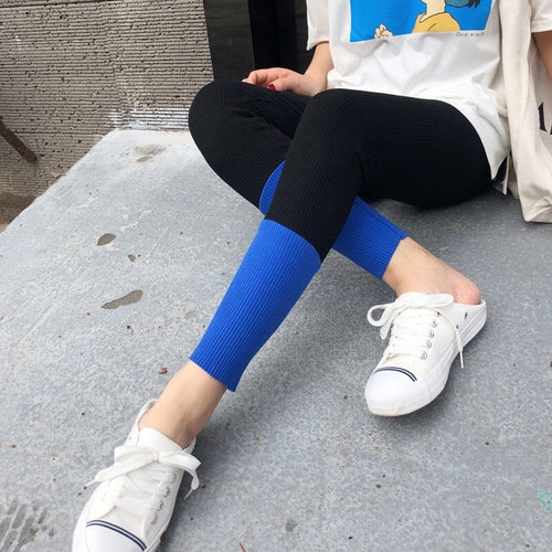 New Fashion Women's Spring And Summer High Elasticity And Good Quality Slim Fitness Capris Streetwear Leggings Cotton Pants - PrintiLya