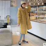 Hooded Ladies Coat Long Coats Parka oversize Colour jacket mid-long women winter thick jacket down jacket women winter - PrintiLya