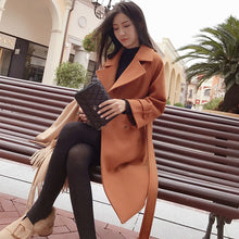 Load image into Gallery viewer, Mishow 2020 autumn and winter woolen coat female Mid-Long New Korean temperament women's popular woolen coat MX17D9636 - PrintiLya