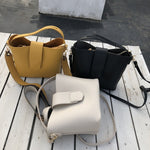 Leather Casual Shoulder Tote Bags With Larger Capacity
