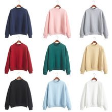 Load image into Gallery viewer, LASPERAL Cute Women Hoodies Pullover 9 colors 2020 Autumn Coat Winter Loose Fleece Thick Knit Sweatshirt Female S-3XL - PrintiLya