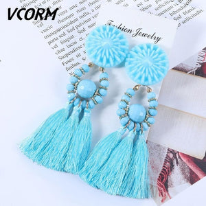 Bohemian Earrings Long for Women Fashion Jewelry 2020