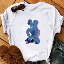 Load image into Gallery viewer, Women's Fashion T-Shirt Lilo Stitch Harajuku Kawaii Tshirts Lovely Cartoon Female Printed Casual T Shirt Cute  Casual Tops - PrintiLya