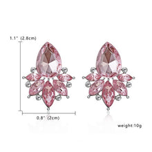 Load image into Gallery viewer, Metal earrings crystal for women