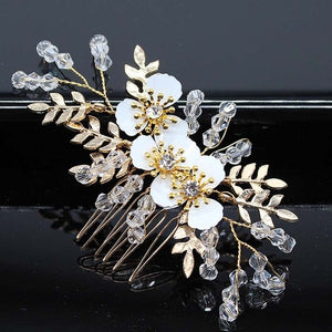 Headpieces Hair Accessories Crystal Wedding for Women Handmade Jewelry