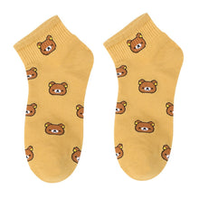 Load image into Gallery viewer, Summer new style, women's cartoon, pure cotton, pure cotton, casual little bear, Korean college wind and women's socks - PrintiLya