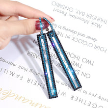 Load image into Gallery viewer, Luxury Long Earrings Geometric Rectangle Rhinestone for Women Jewelry Fashion