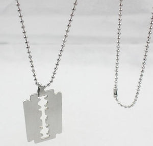 Necklaces Chains hiphop Punk Steel rock Blade for women and men