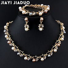 Load image into Gallery viewer, Hot Pearl Necklace and Earrings Jewelry for Women Elegant Fashion 2020