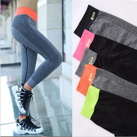 Women quick drying High elasticity fitness Yoga trousers Outdoor professional Running pants gym sport legging pants - PrintiLya