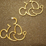 New Fashion Cute Childlike Alloy Mickey /Donald/Minnie Statement Hoop Earrings For Women Cartoon Earrings Girls Bijoux