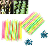 26Pcs Plastic Long Styling Barber Salon Tool Hairdressing Spiral Hair Perm Rod Small - PrintiLya