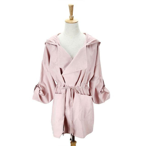 New 2019 Women Jack Coat Autumn Long Sleeve Hooded - PrintiLya