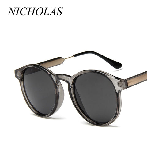 NICHOLAS Retro Round Sunglasses Women Men Brand Design Transparent Female Sun glasses Men Oculos De Sol Feminino Lunette Soleil - PrintiLya