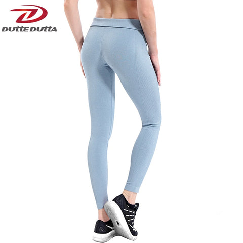 Women Yoga Pants High Elastic Fitness Sport Leggings Tights Slim Running Sportswear Sports Pants Quick Drying Training Trousers - PrintiLya
