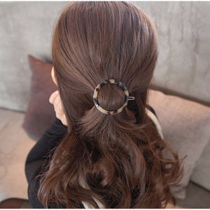 Women's Fashion Hair Accessorie Geometric Triangle Ink Leopard Hairpin Hair Clips Hair Accessories Luxury Hair Accessorie - PrintiLya