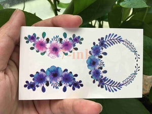 25 design Waterproof Temporary Tattoo sticker cute sexy lavender flowers Leaves tatoo Water Transfer fake tattoo for Adult - PrintiLya