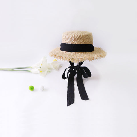 2019 Handmade Weave Raffia Sun Hats For Women Summer Women Outdoors Sunshade Straw Hat Beach Hat Foldable Hat - PrintiLya