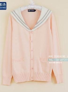 Preppy Style Cosplay Cardigan Sweater Women School Uniform Sailor Collar Cardigan JK Japanese School Uniforms Knitted Sweater - PrintiLya