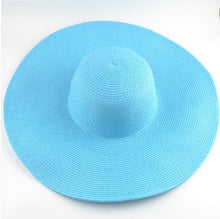 Load image into Gallery viewer, Straw panama visor Hats women cap You Ma'am Summer Sun Hat Sun Hat Foldable Will Eaves Sandy Beach Hats Straw cap chapeu praia - PrintiLya