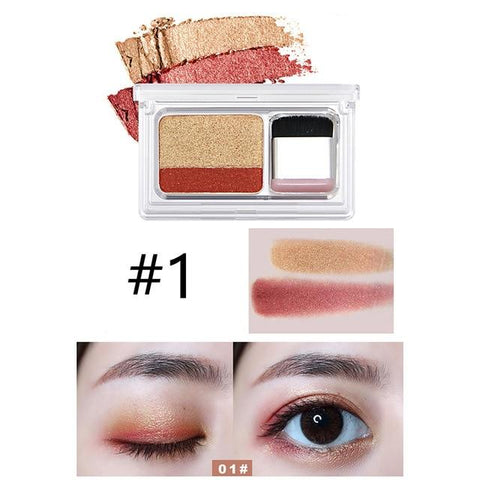 NOVO 2019 New Lazy Eyeshadow Korean Style Cosmetics Matte Shimmer Eye Shadow Stamp Naked Palette With Brush Nude Makeup Set