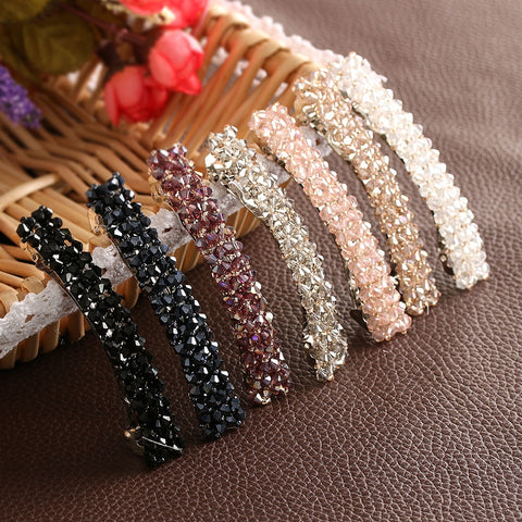 1Pcs Bling Crystal Hairpins Headwear forWomen Girls Rhinestone Hair Clips Pins Barrette Styling Tools Accessories 7 Colors - PrintiLya