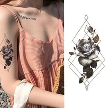Load image into Gallery viewer, 1 Pieces/set Small Full Flower Arm Temporary Waterproof Tattoo Stickers Fox Owl for Women Men Body Art - PrintiLya