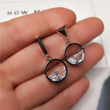 Load image into Gallery viewer, 2019 NEW Fashion Jewelry Crystal From Swarovski Earrings Sterling Zircon Japanese And Korean Style Asymmetric Woman Earrings