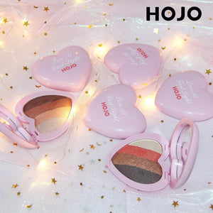 HOJO Brand Sweet Heart Eyeshadow Palette Matte Shimmer Eyeshadow Naked Makeup Korean Style Cosmetics Long-lasting Easy To Wear