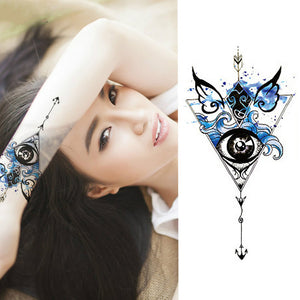 1 Pieces/set Small Full Flower Arm Temporary Waterproof Tattoo Stickers Fox Owl for Women Men Body Art - PrintiLya