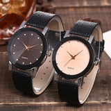 Luxury Brand Casual Simple Quartz With Leather Strap Wrist