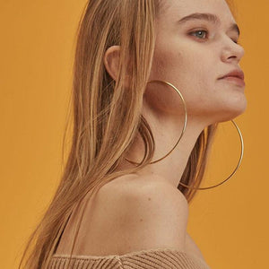 "4"" Oversized Circel Hoop Earrings For Women Hot Gold Silver Big Round Hoops Earrings 2018 Brincos Pendientes Aros Mujer Oreja"