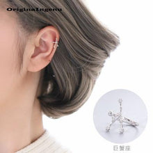 Load image into Gallery viewer, Constellations Earrings No Piercing 12 Constellations Ear Cuff Charm Personality 925 Sterling Silver Earrings Jewerly For Women
